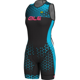 Alé Cycling Triathlon Rush Olympic Traje Triatlón sin mangas Mujer, black-light blue